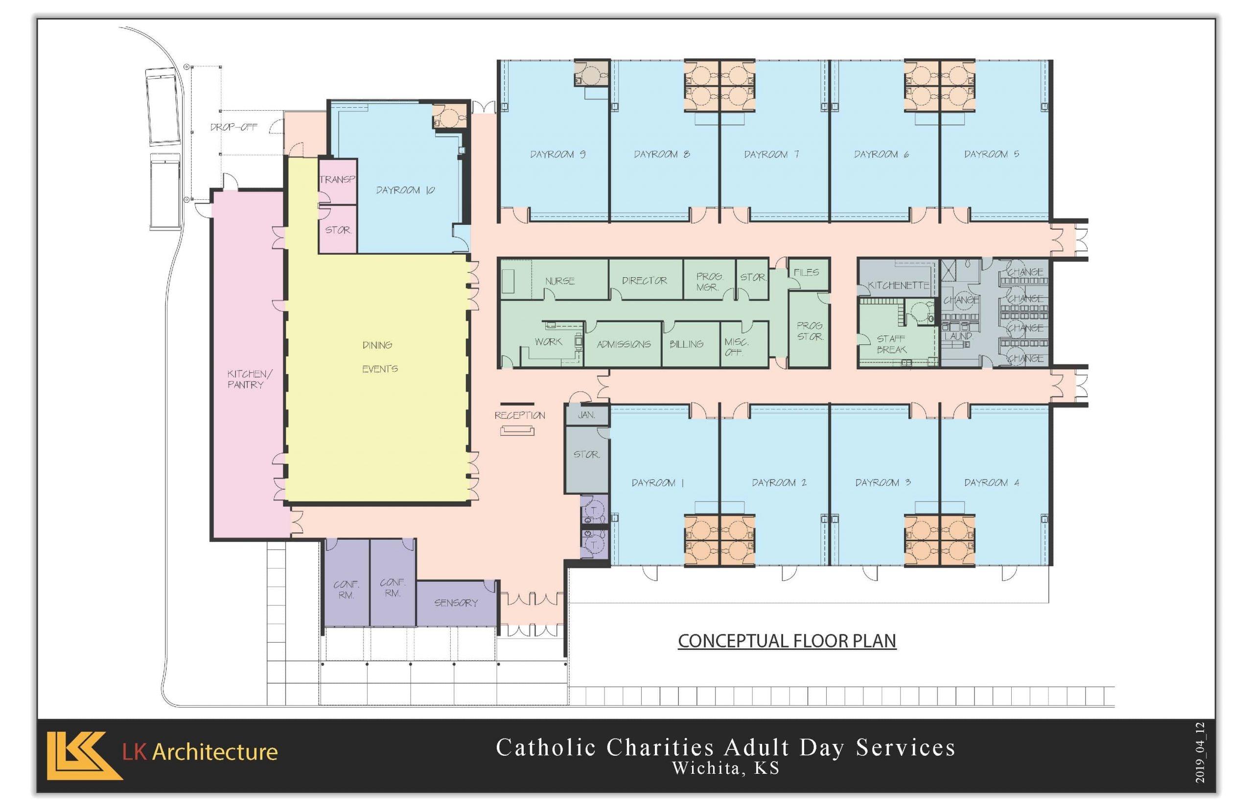 Catholic Charities Adult Day Service Blue Print