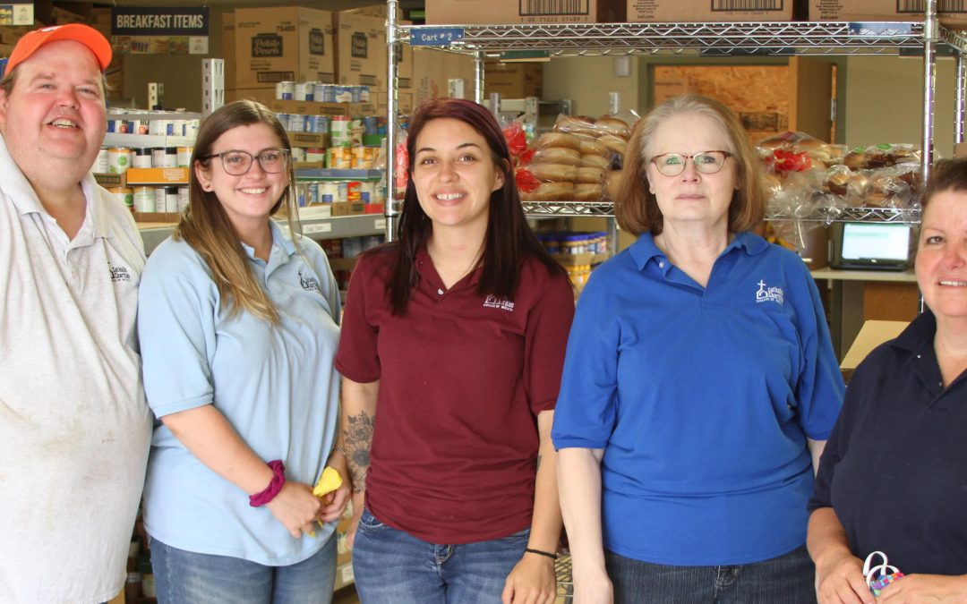 Cross-training: Adult Day Services staff help at pantry, shelter
