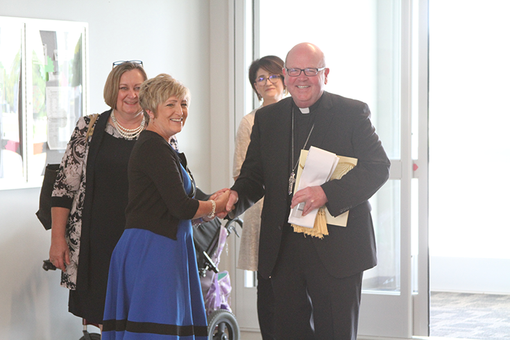 Bishop blesses new Adult Day Services
